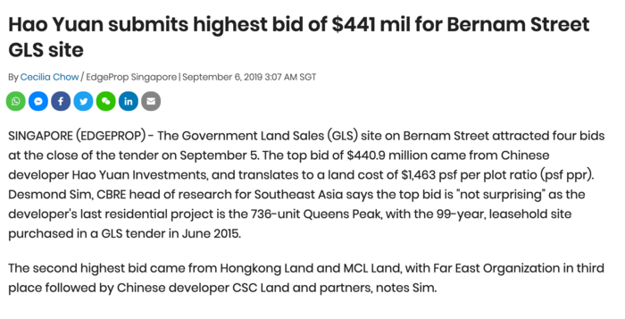 Hao-Yuan-submits-highest-bid-of-$441m-for-bernam-street